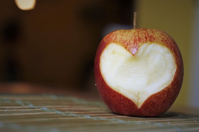 srdce v jablku