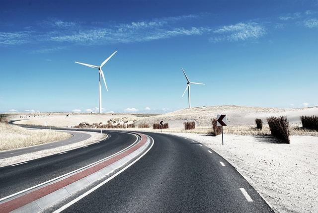 větrná elektrárna v prérii
