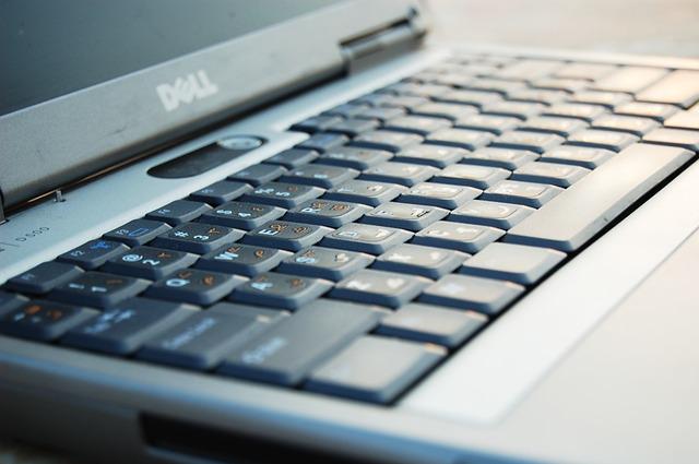 klávesnice notebooku Dell
